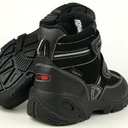 Indigo cooler Stiefel KEVIN Slam-Tex gefüttert schwarz Gr.31-42 32