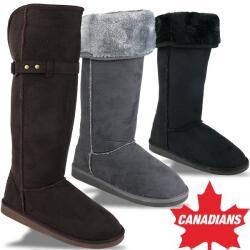 INDIGO kuschelige Boots CANADIANS hohe Form krempelbar 3...