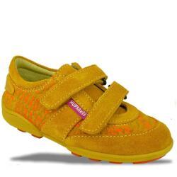 Hupsakee Mädchen Sneaker, 2x Klett, gelb, Leder,...