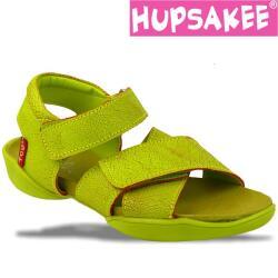 Hupsakee Sandale Crashleder, kawa-grün, Gr.34+35