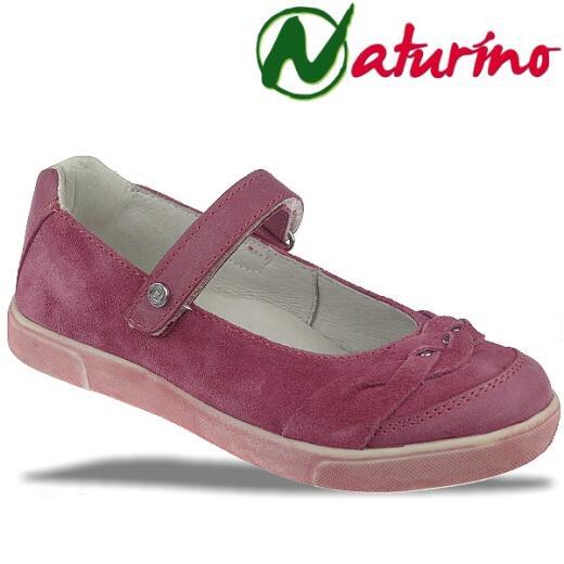 Naturino 4596 sportl.Ballerina Spangenschuh Leder in Fuxia Gr.27 38