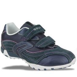 GEOX J FRECCIA D Leder Halbschuh Sneaker blau Gr.28-36