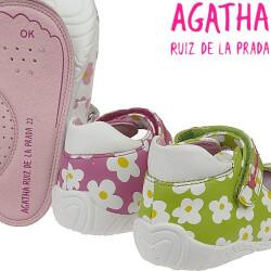 AGATHA RUIZ DE LA PRADA Lauflern Ballerina Leder Mod.122930 *fällt klein aus* 3 Farben Gr.21-24 weiß 22