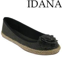 IDANA textile Ballerina Jeans Canvas Espandrillostil in 4...