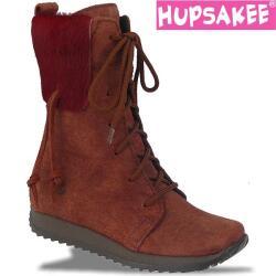 Hupsakee Leder Stiefel braun Reißverschluss Gr. 26-33
