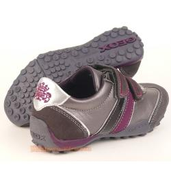 GEOX J SNAKE F Lederschuh Sneaker grau/lila + coole Uhr Gr. 29-41 35