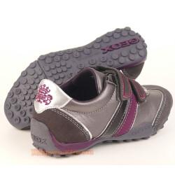 GEOX J SNAKE F Lederschuh Sneaker grau/lila + coole Uhr Gr. 29-41 41