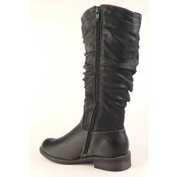 Indigo trendiger Stiefel für kleine Ladies - gefüttert - black Gr. 33-39