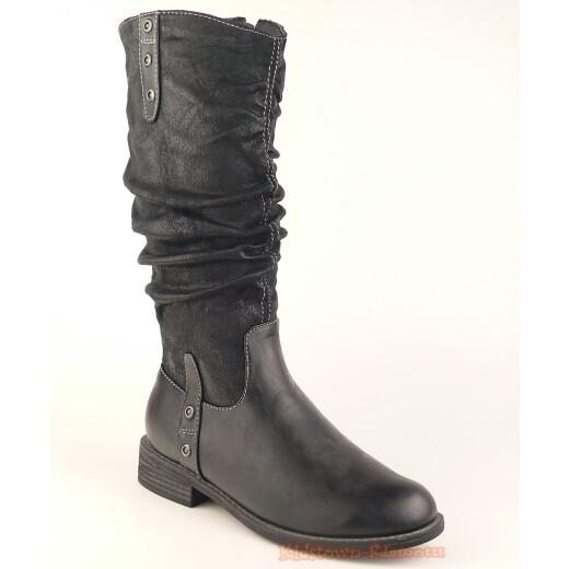 Indigo trendiger Stiefel für kleine Ladies - gefüttert - black Gr. 33-39 33