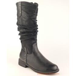 Indigo trendiger Stiefel für kleine Ladies - gefüttert - black Gr. 33-39 36