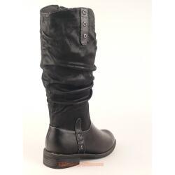 Indigo trendiger Stiefel für kleine Ladies - gefüttert - black Gr. 33-39 37