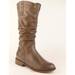 Indigo trendiger Stiefel für kleine Ladies - gefüttert - taupe Gr. 33-39 37