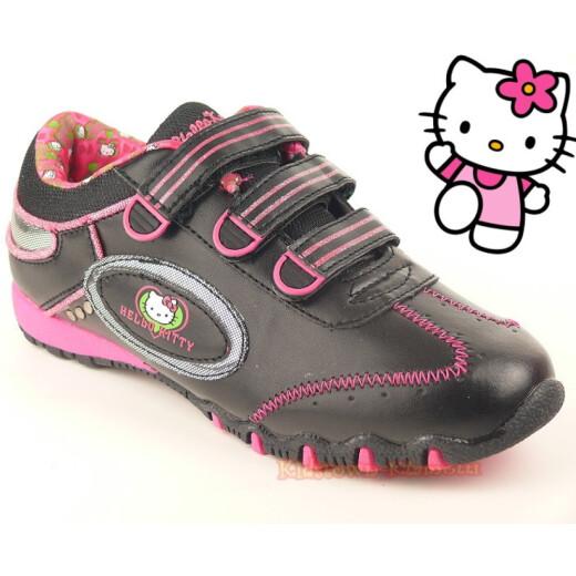 Coole Halbschuhe für alle HELLO KITTY - Fans  black/pink Gr. 28-39 34
