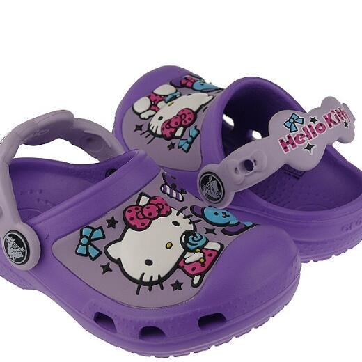 2c103fd8ea8181 ... CROCS Hello Kitty Candy Ribbon Clog Clogs lila Gr.23-35