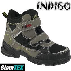 INDIGO gefütterte Winterstiefel Boots Slam-Tex mit...