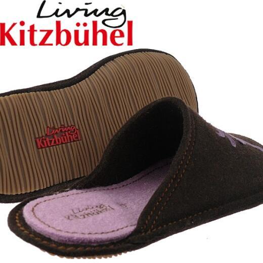 Living Kitzbühel Hausschuh 2242 Hirsch Pantoffel Flex.Filz Braun Gr.38 42