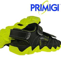 Primigi TYPHOON Sandale Leder schwarz-neongrün NEU...