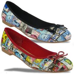 Jane Klain by IDANA Ballerina Pop-Art in 2 Farben Gr.36-42