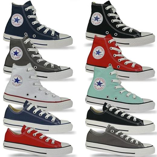 promo code 4e3fa f695a CONVERSE All Star High / All Star Ox Chucks in coolen Farben Gr.27-35