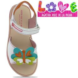 Agatha Ruiz de la Prada zauberhafte Leder Sandale Mod.132950 Gr.24-32 weisstöne EUR 24