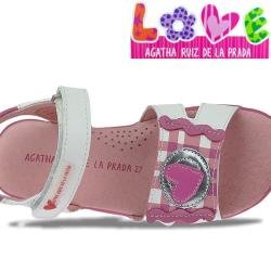 Agatha Ruiz de la Prada zauberhafte Leder Sandale...