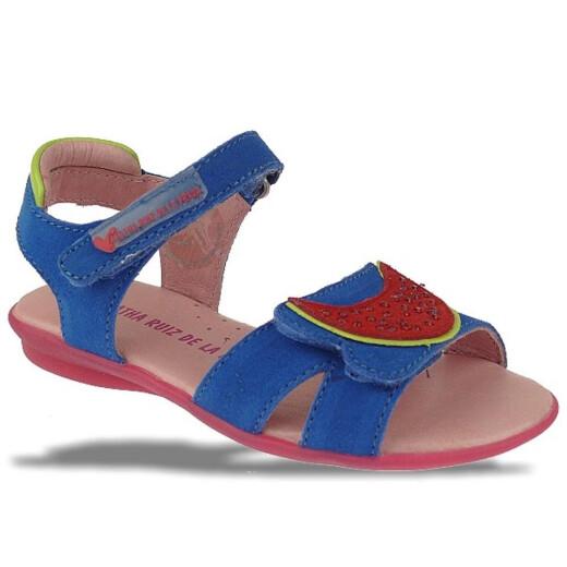 Agatha Ruiz de la Prada zauberhafte Leder Sandale Mod.132966 Gr.24-32 EUR 25