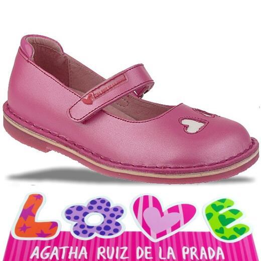 Agatha Ruiz de la Prada zauberhafte Leder Ballerina Mod.132920 Gr.24-32 pinktöne EUR 27