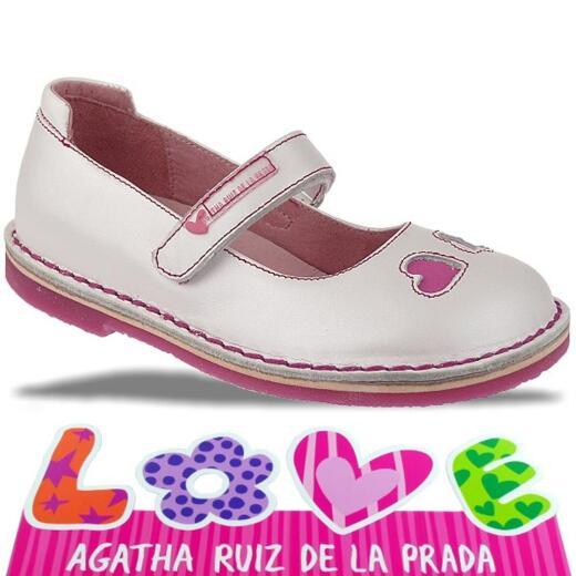 Agatha Ruiz de la Prada zauberhafte Leder Ballerina Mod.132920 Gr.24-32 weisstöne EUR 26
