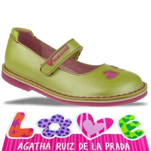 Agatha Ruiz de la Prada zauberhafte Leder Ballerina Mod.132920 Gr.24-32 grüntöne EUR 29