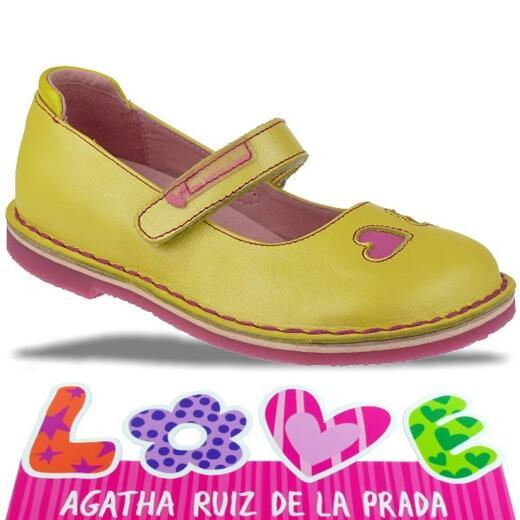 Agatha Ruiz de la Prada zauberhafte Leder Ballerina Mod.132920 Gr.24-32 gelbtöne EUR 28