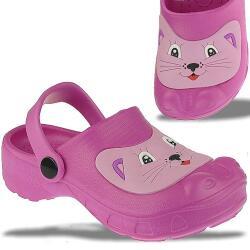 INDIGO Crazy Clogs lustige Katze in Pink Gr.24-30