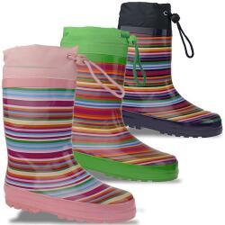 INDIGO Rainboots crazy Strips Gummistiefel im lustigen...