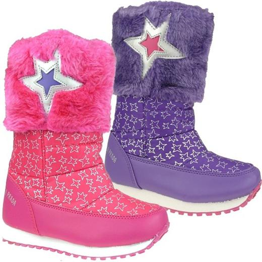 Agatha Ruiz de la Prada Schneeboots Stiefel Mod.131996 pink oder lila Gr.24-35