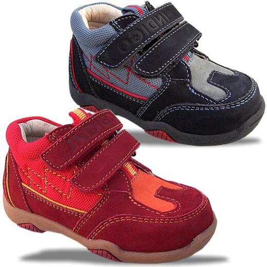 Spangenschuh,Leder-Innenausbau INDIGO Halb-Sandale zwei Farben 20-26 Gr