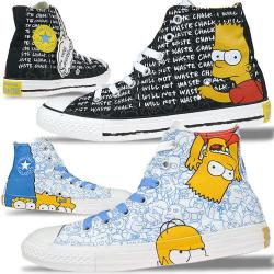 CONVERSE AS High Simpsons limitierte Edition in 2 Farben...