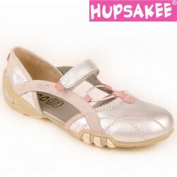 Offene Hupsakee Ballerina mit Klett Gr. 35-38 38 silber
