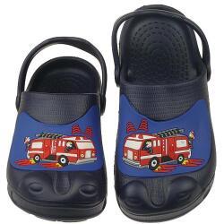 Crazy Clogs für kleine Feuerwehrleute blau Gr.24-35