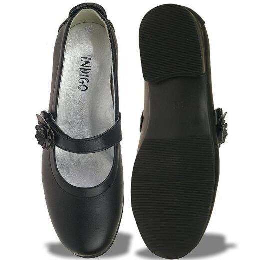 INDIGO Ballerina festlicher Schuh matt in schwarz oder weiß Gr.31 37