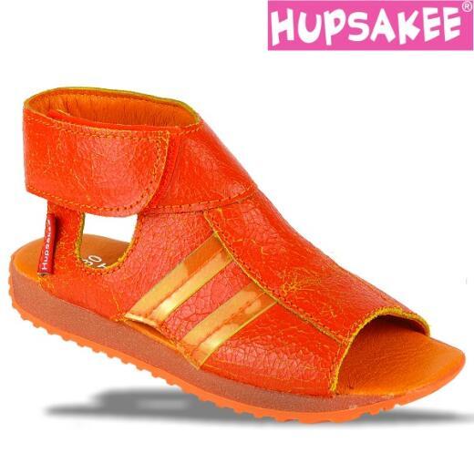 Hupsakee Sandale, Leder, orange, Klettverschluss, Gr. 26-33