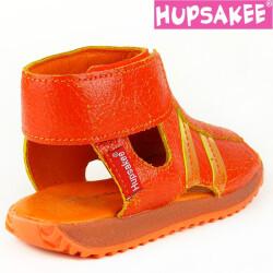 Hupsakee Sandale, Leder, orange, Klettverschluss, Gr. 26-33 33