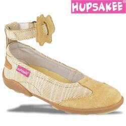 Hupsakee Mädchen Ballerina, Leder, beige, Gr. 26-33 28