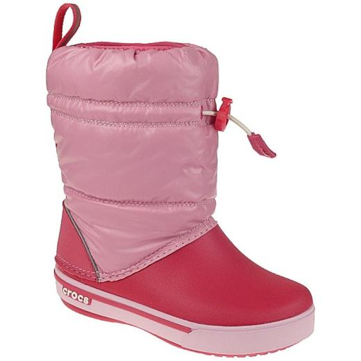 half off ae7a6 537b2 CROCS Crocband Iridescent Gust Boot Winterstiefel in Pink-Poppy NEU Gr.23-33