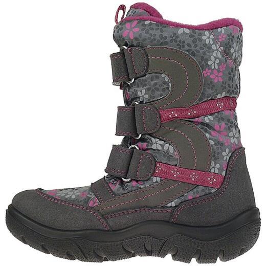GEOX Frosty Stivali Stiefel wasserdicht Amphibiox grau pink Gr.28 35 KjtGb