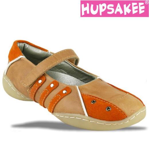 Hupsakee Ballerina, Glattleder, orange braun, Gr. 26-32 31