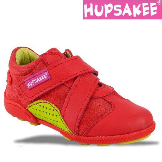 Hupsakee Mädchen Sneaker, rot, Leder, Gr. 33-38 24