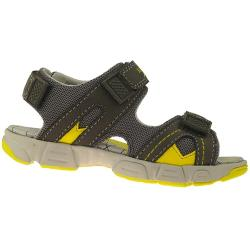 SUPERFIT Sandale Leder Mod.00182-05 Weite M grau-gelb...