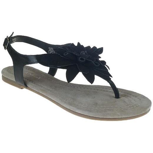 AMIA trendige Dianette Zehensandale aus Leder in 3 Farben Gr.37-42 schwarz EUR 39
