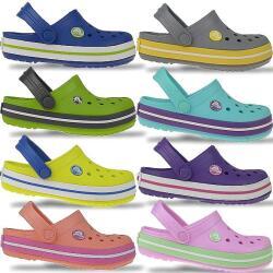 CROCS Crocband Kids Clogs in 8 neuen Sommerfarben NEU Gr....