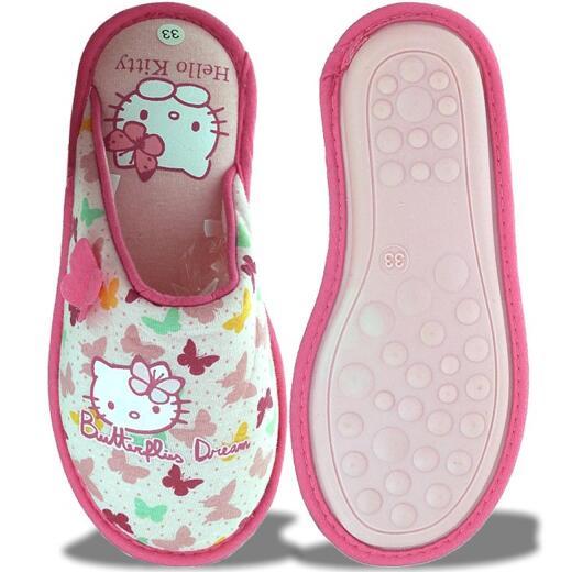 "Gr Hello Kitty /""HK PAULINA 258840-21/"" Hausschuhe in Pink Gummizug 22-27"