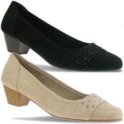 Jane Klain trendiger Ballerina Schuh schwarz oder beige...